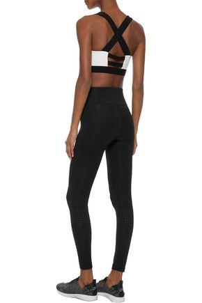 IRIS & INK Gabby perforated stretch leggings