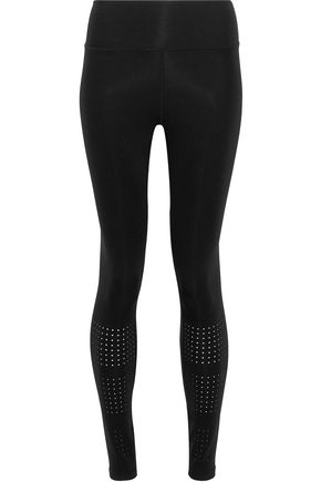 Gabby Perforated Stretch Leggings by Iris & Ink
