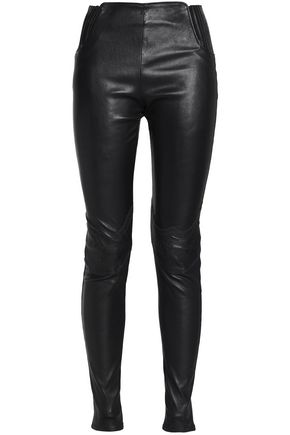 MAISON MARGIELA Stretch-leather skinny pants