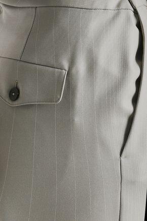 MAISON MARGIELA Striped wool straight-leg pants