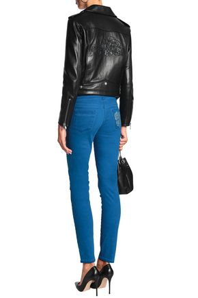 JUST CAVALLI Embroidered low-rise skinny jeans
