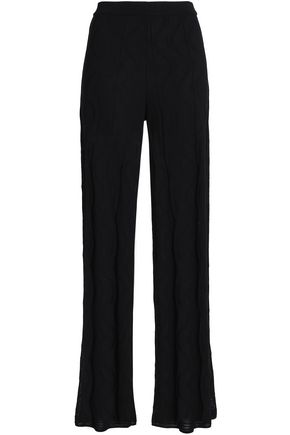 M MISSONI Crochet-knit cotton-blend wide-leg pants