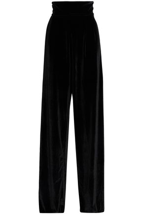 PETERSYN Vivian velvet wide-leg pants
