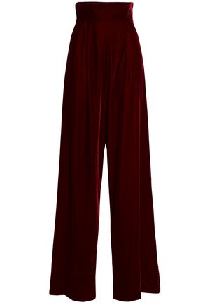 Linen Blend Wide Leg Pants by Petersyn