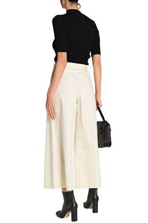 MAISON MARGIELA Belted cotton and linen-blend wide-leg pants