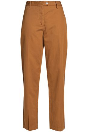 MAISON MARGIELA Cotton and linen-blend twill tapered pants