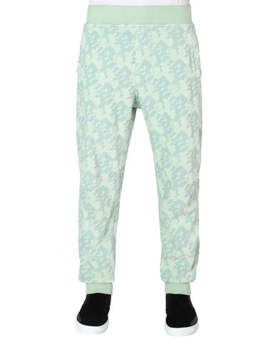 60509 LEISURE TROUSERS (PRINTED JERSINHO) PANAMA WEAVED COTTON CHENILLE ENPHATIZING PRINT - GARMENT DYED