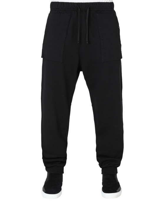 STONE ISLAND SHADOW PROJECT TROUSERS 60607 UTILITY SWEATPANTS WITH ARTICULATION TUNNEL (DIAGONAL WEAVE FELPA) GARMENT DYED