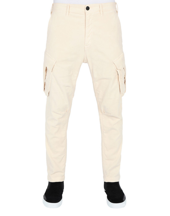STONE ISLAND SHADOW PROJECT PANTALONS 30311 CARGO TROUSERS (STRETCH MOLESKIN) GARMENT DYED