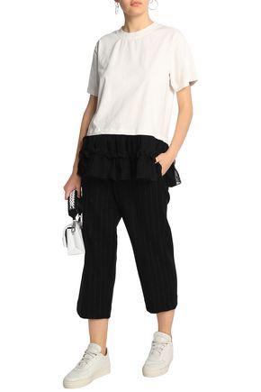 e2290904a85916 MM6 MAISON MARGIELA Striped wool-blend straight-leg pants