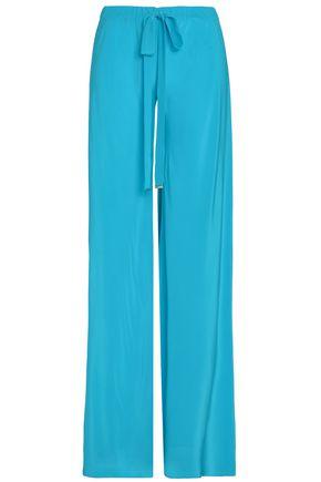 ROBERTO CAVALLI Silk crepe de chine flared pants