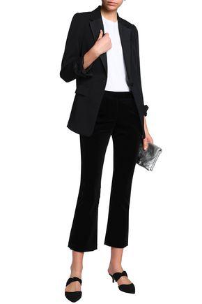 FRAME Cotton-blend velvet kick-flare pants
