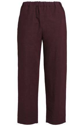 MARNI Linen-blend twill straight-leg pants