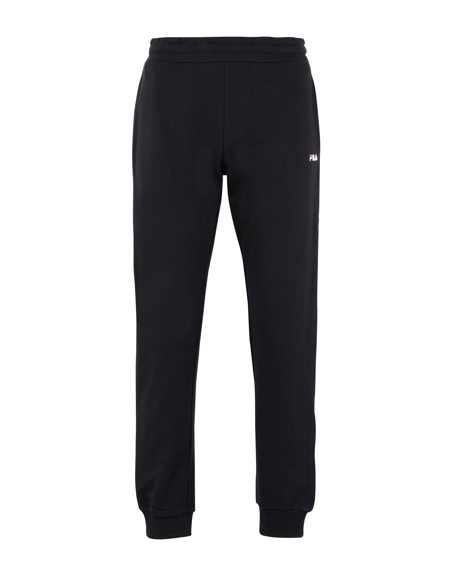 《セール開催中》FILA HERITAGE メンズ パンツ ブラック L コットン 71% / ポリエステル 29% Tadeo Tape Sweat Pant