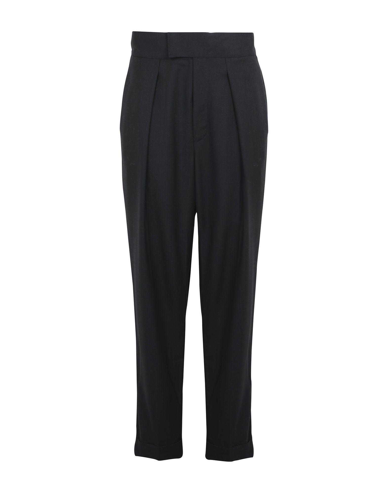 《送料無料》POLO RALPH LAUREN レディース パンツ ブラック 0 ウール 100% Tuxedo Wool Straight pant