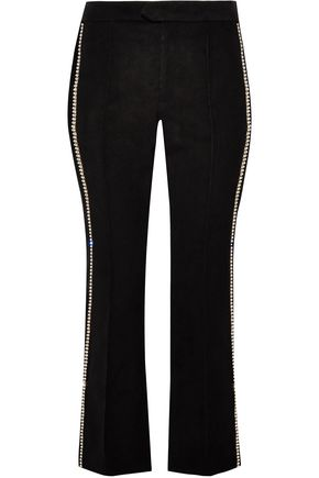 ISABEL MARANT Philea crystal-embellished felt slim-leg pants