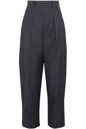 ISABEL MARANT Mexi Prince of Wales checked wool wide-leg pants