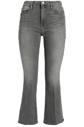FRAME Faded mid-rise bootcut jeans