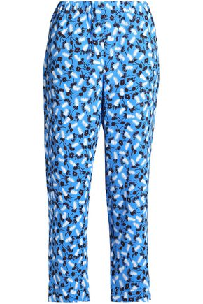 MARNI Printed crepe straight-leg pants