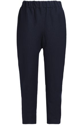MARNI Linen and wool-blend twill tapered pants