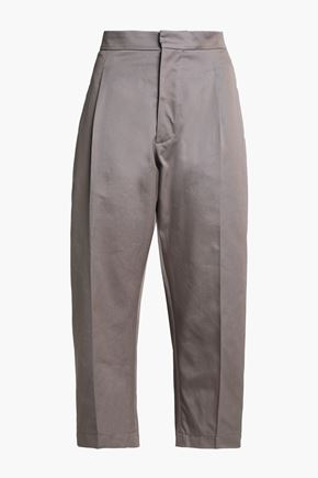 MARNI Cropped cotton-twill straight-leg pants