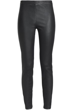 VINCE. Stretch-leather slim-leg pants
