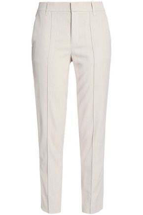 VINCE. Cropped woven tapered pants