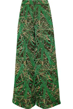 M MISSONI Metallic jacquard-knit wide-leg pants