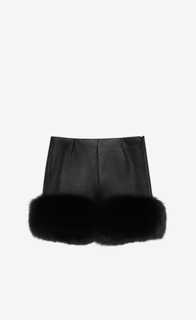 SAINT LAURENT Shorts Woman fox and lambskin shorts a_V4