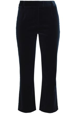 FRAME Cotton-blend velvet kick-flare pants