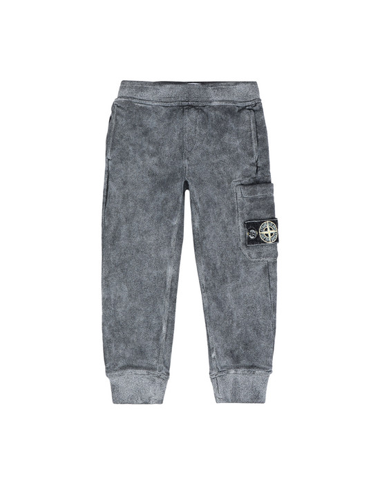 STONE ISLAND BABY Fleece Trousers 60839 DUST COLOUR FROST FINISH