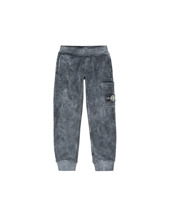 STONE ISLAND KIDS Pantaloni in felpa 60839 DUST COLOUR FROST FINISH