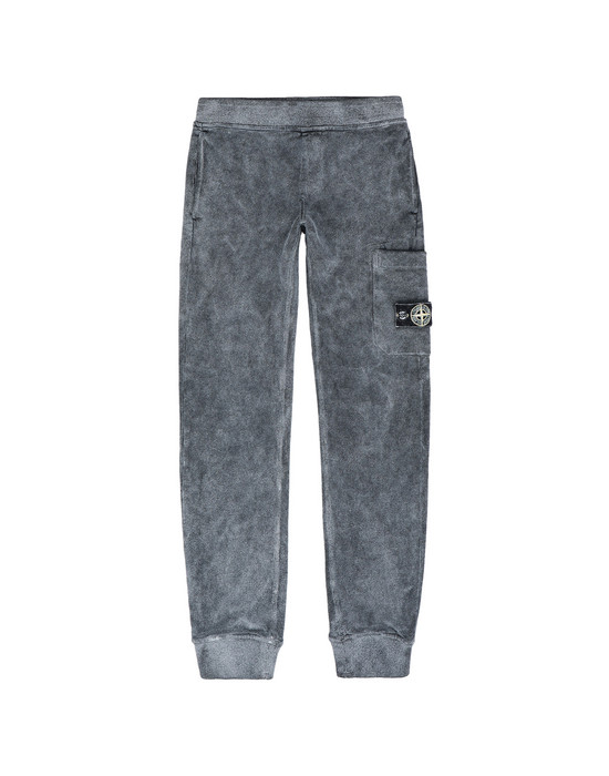 STONE ISLAND JUNIOR Fleece Trousers 60839 DUST COLOUR FROST FINISH