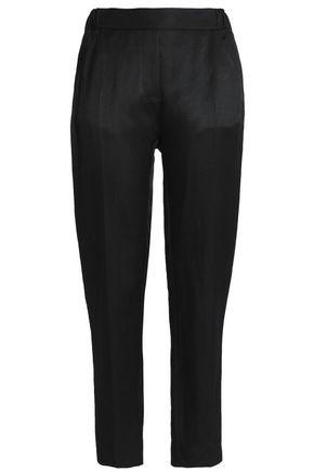 MAISON MARGIELA Linen-blend canvas slim-leg pants