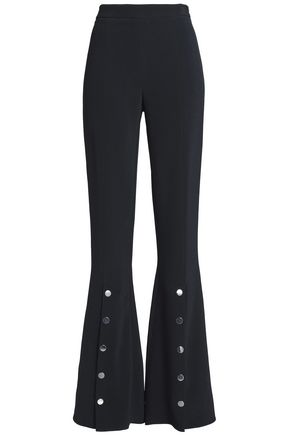 CUSHNIE ET OCHS Emma button-detailed stretch-crepe flared pants