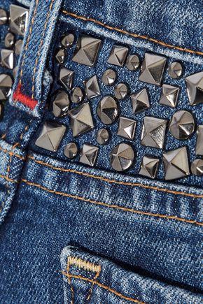 ALICE + OLIVIA Good studded mid-rise skinny jeans