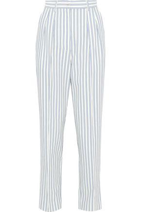 JASON WU Striped poplin straight-leg pants