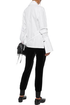 ANN DEMEULEMEESTER Solange velvet track pants