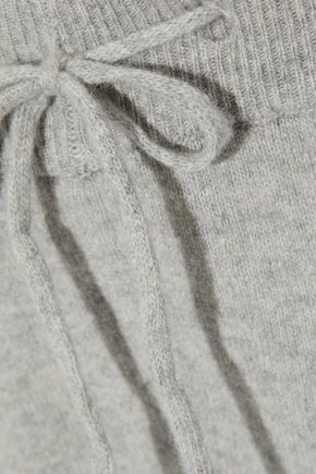 IRIS & INK Albie mélange cashmere and wool-blend track pants