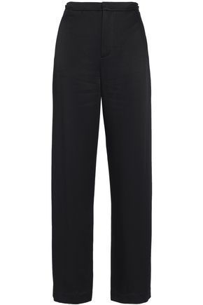 VINCE. Satin-crepe straight-leg pants