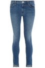 CURRENT/ELLIOTT Faded low-rise skinny jeans