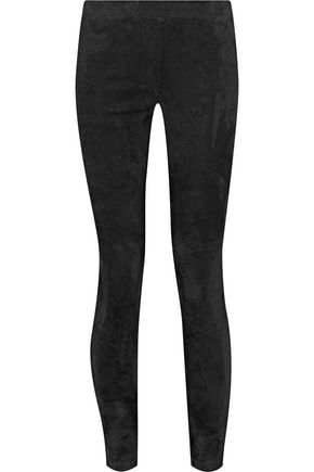 VINCE. Paneled suede leggings