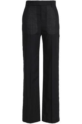 RICK OWENS Wool-twill straight-leg pants