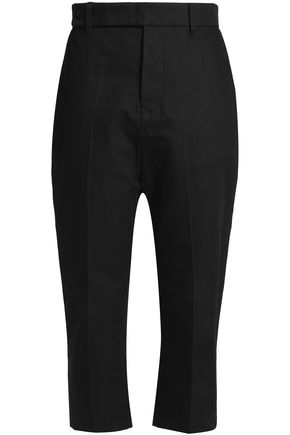 RICK OWENS Cropped cotton-canvas tapered pants