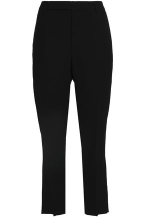 RICK OWENS Virgin wool-blend crepe straight-leg pants