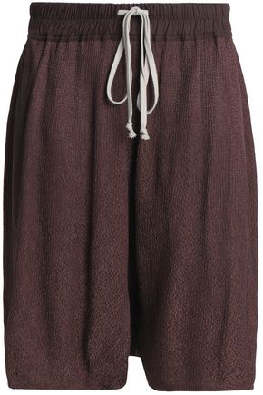 RICK OWENS Plissé-jacquard shorts