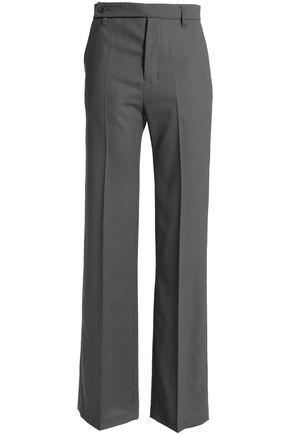 RICK OWENS Wool-crepe straight-leg pants