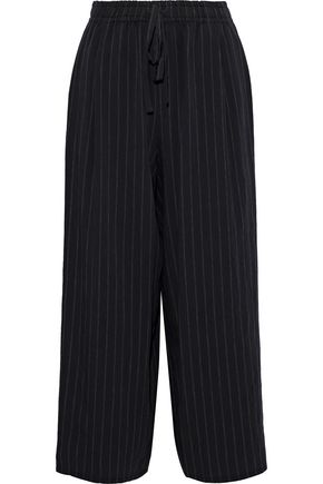 VINCE. Cropped pinstriped woven straight-leg  pants