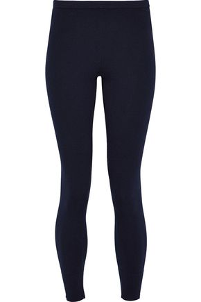 VINCE. Ribbed cotton-blend leggings