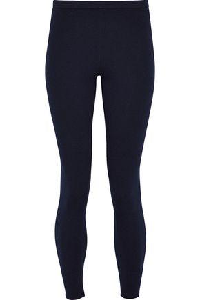 VINCE. Ribbed cotton-blend leggings
